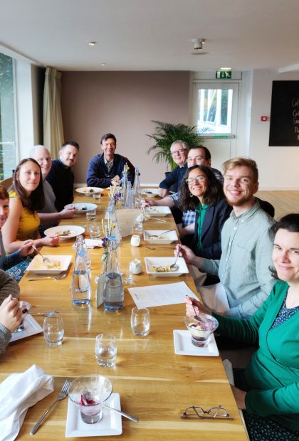 Alberon team out to lunch